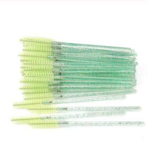periute gene verzi cu sclipici